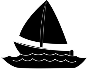 Shaow clipart boat Silhouette clip the a art