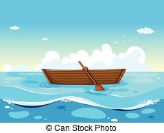 Ocean clipart free use Vector  floating boat ocean
