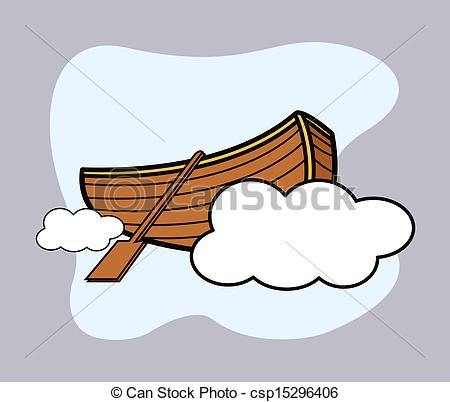 Floating clipart small boat Over Vector Old Boat
