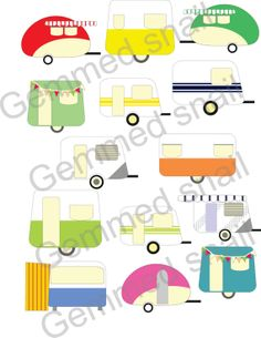 Floating clipart summer outing Flavors cream Caravan clip 12