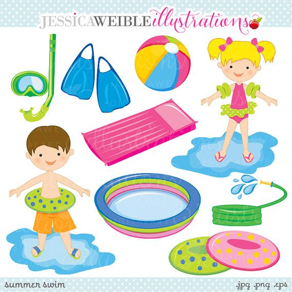 Floating clipart summer splash About Pool* Graphics Clipart Swimming