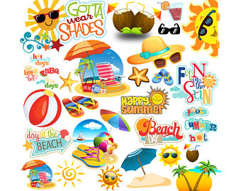 Floating clipart summer splash Beach Clipart Text Beach party