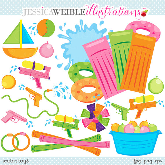 Floating clipart summer splash Clip  Cute Clipart Toys
