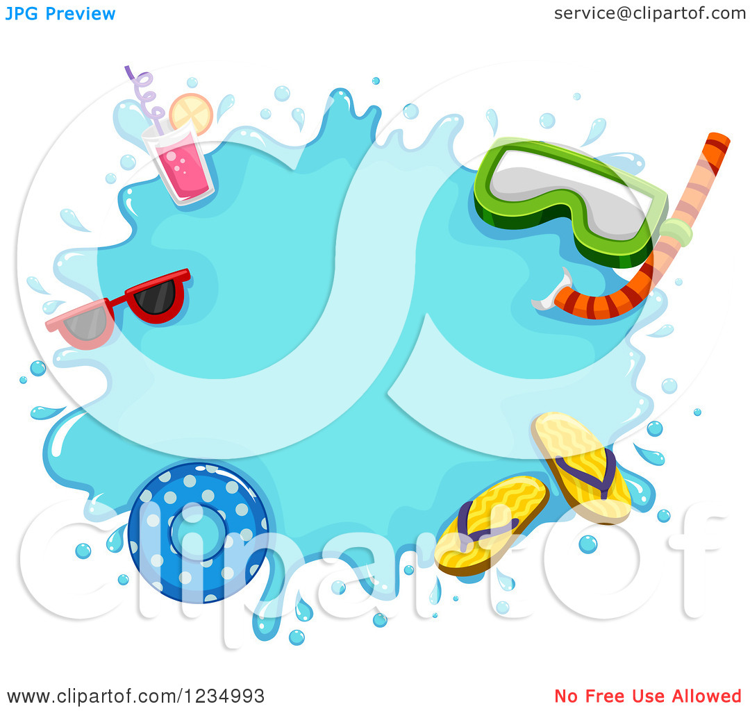 Floating clipart summer splash Clipart – Summer Clip Summer
