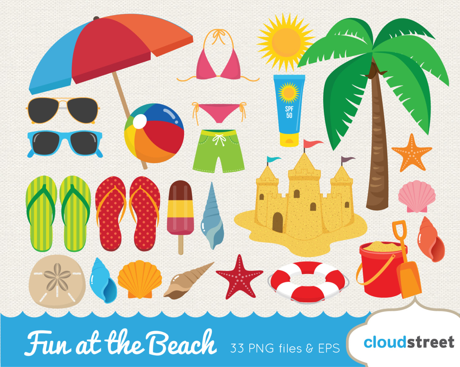 Floating clipart summer splash Clipart Etsy beach art vector