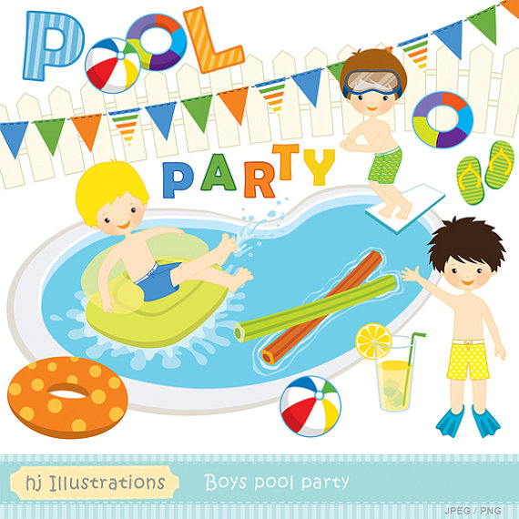Party clipart pool Party web pool scrapbooking party