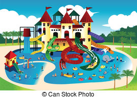 Floating clipart water park Art  park EPS People