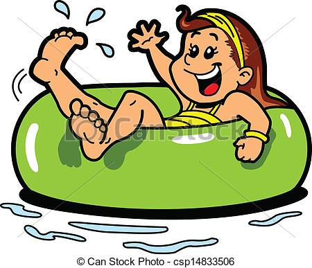 Floating clipart water park Floating pictures Happy 148 Girl