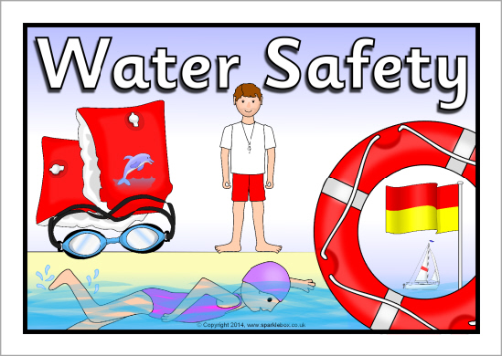 Floating clipart water safety SparkleBox  Water Safety Water