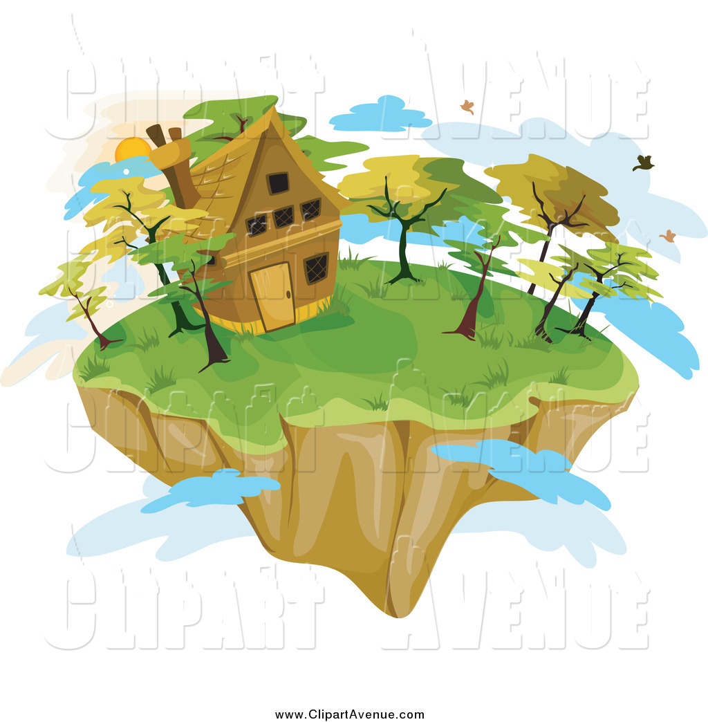 Floating Island clipart theme park  Clouds Cottage Cottage a