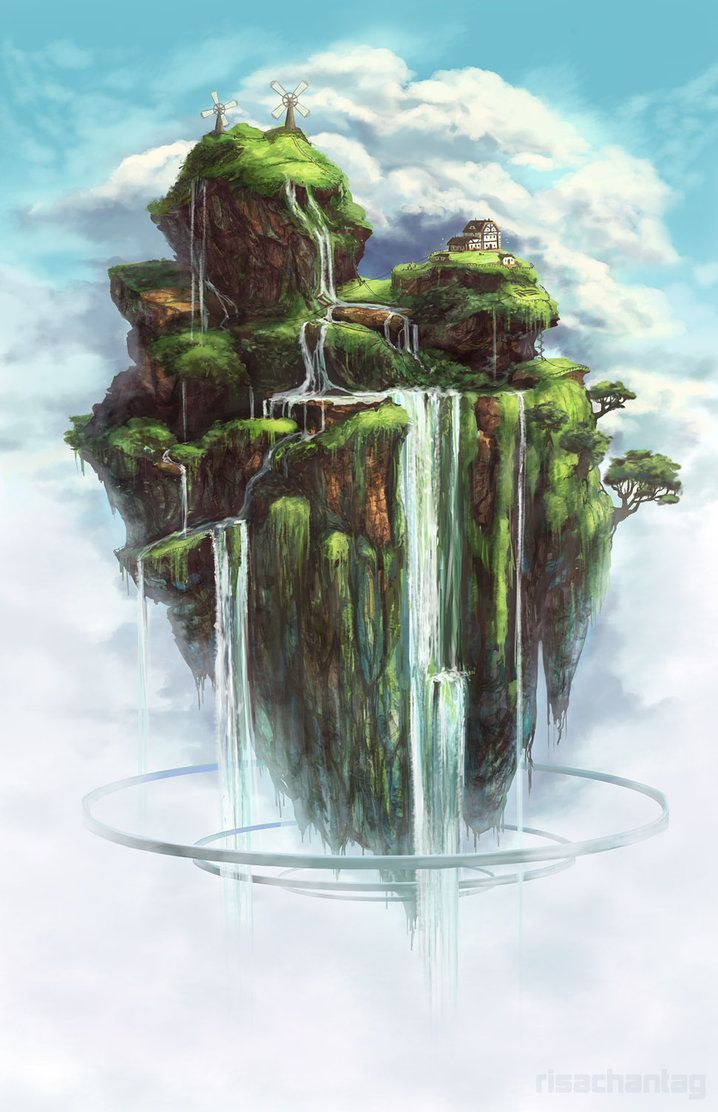 Floating Island clipart theme park Island Best Floating @@@@@ Waterfall