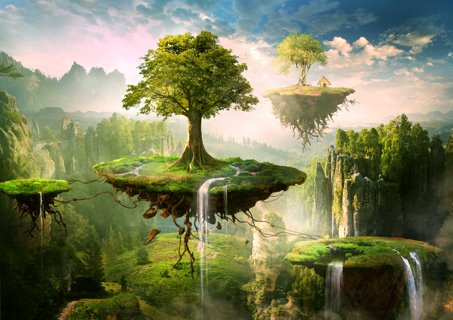 Floating Island clipart By DeviantArt Floating islands on