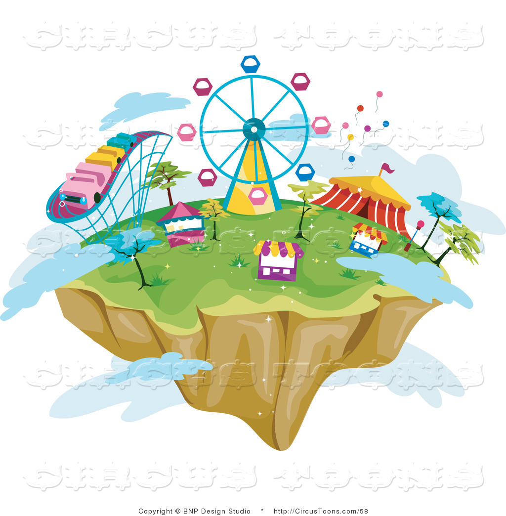 Floating clipart carnival Clipart the Floating Sky Island