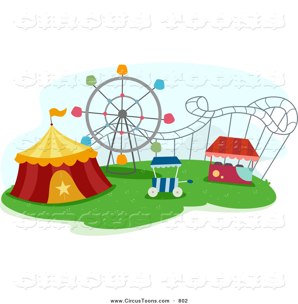 Tent clipart kids carnival  Free Royalty Park Designs