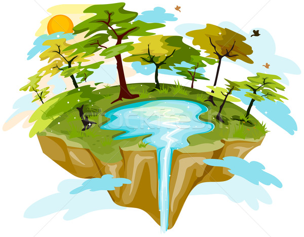 Floating Island clipart theme park Images Stock island Floating Floating