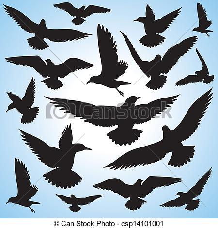 Flock Of Birds clipart Flock birds flying Vector Vector