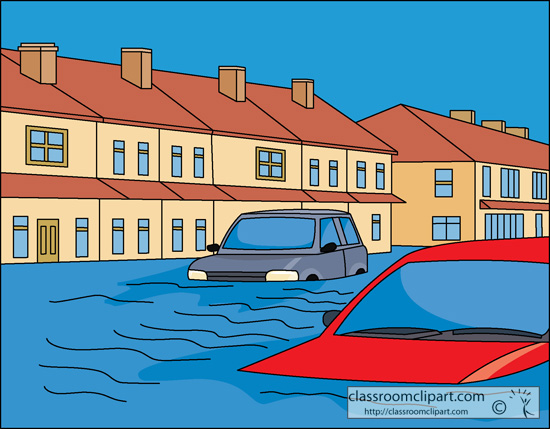 Flooded clipart #4