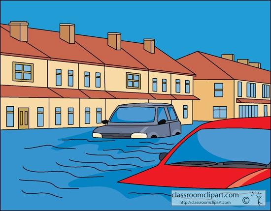 Flooded clipart animated Com Clipart Flood Flood House