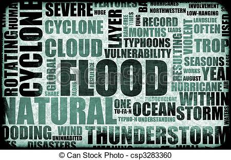 Flood clipart background Csp3283360 of Illustration Disaster Art
