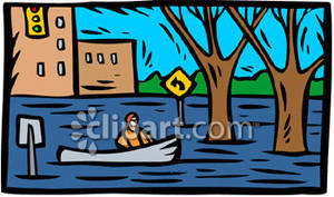 Places clipart flooded #2