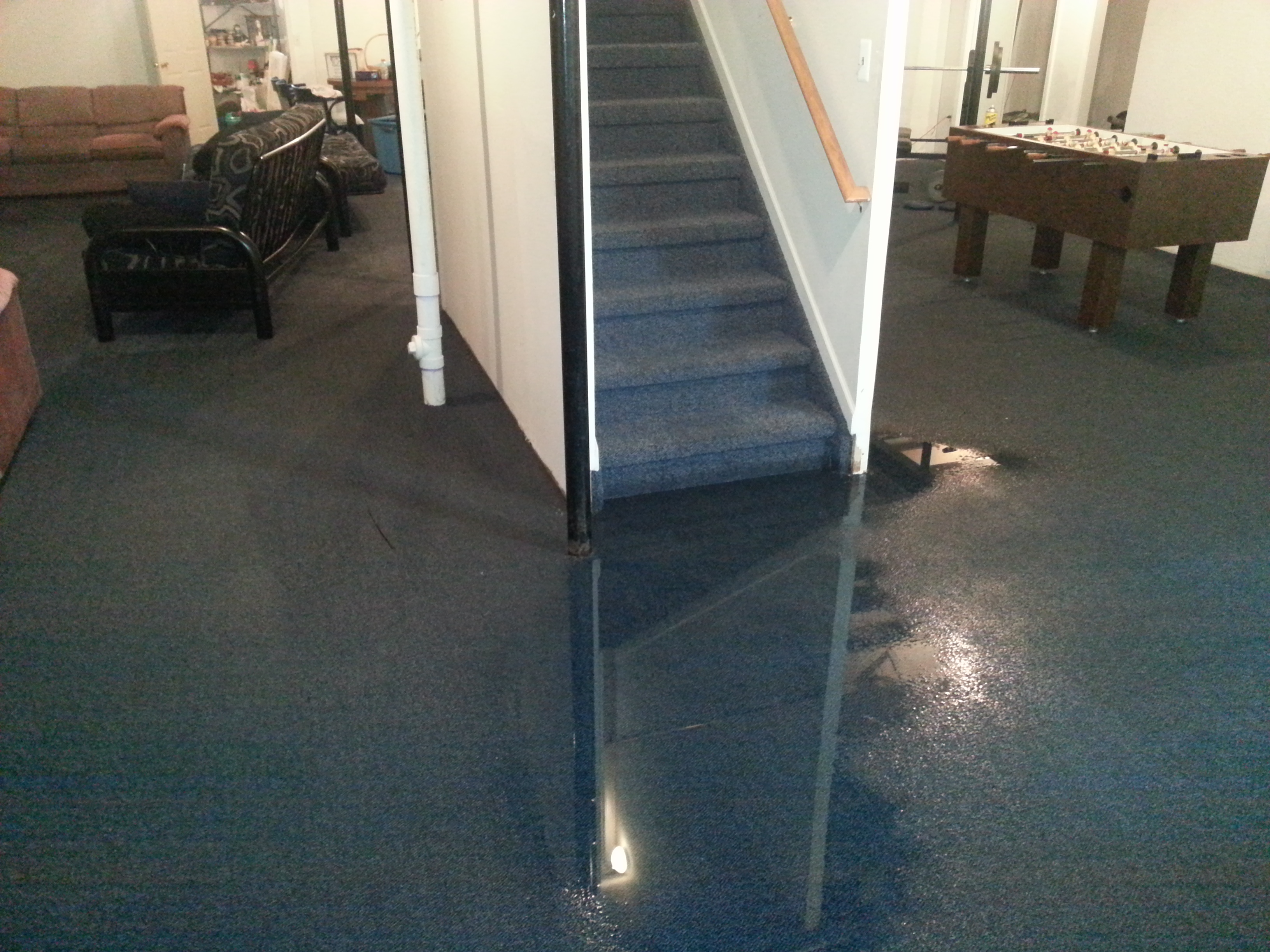 Flood clipart flooded basement Grosse stairs Restoration Flooded and