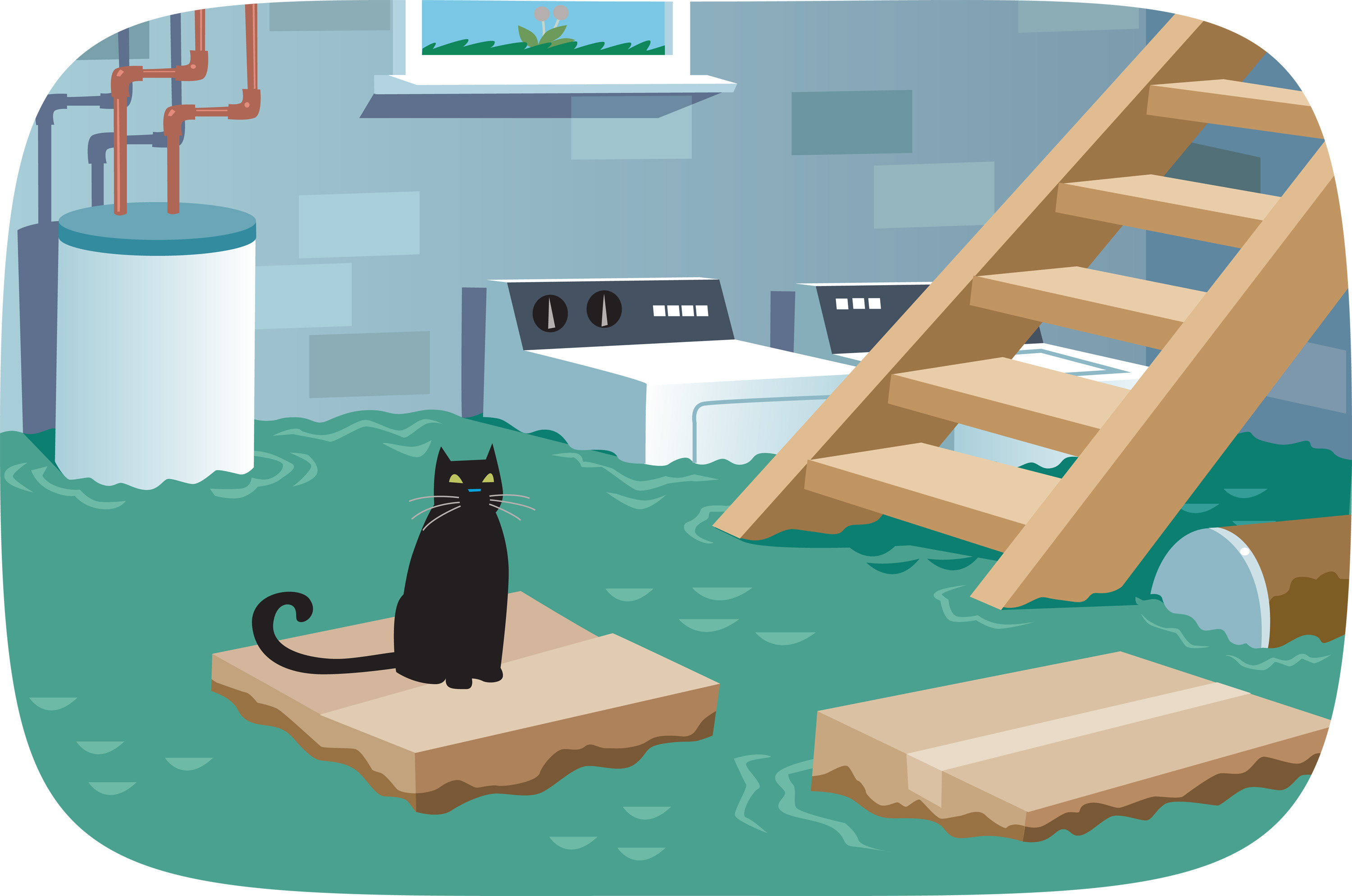 Flood clipart flooded basement Cleaning for Examiner  Advice