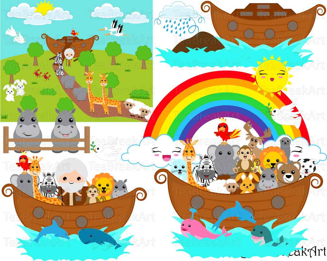 Flood clipart noah and the flood Commercial for Graphics bear Noah's