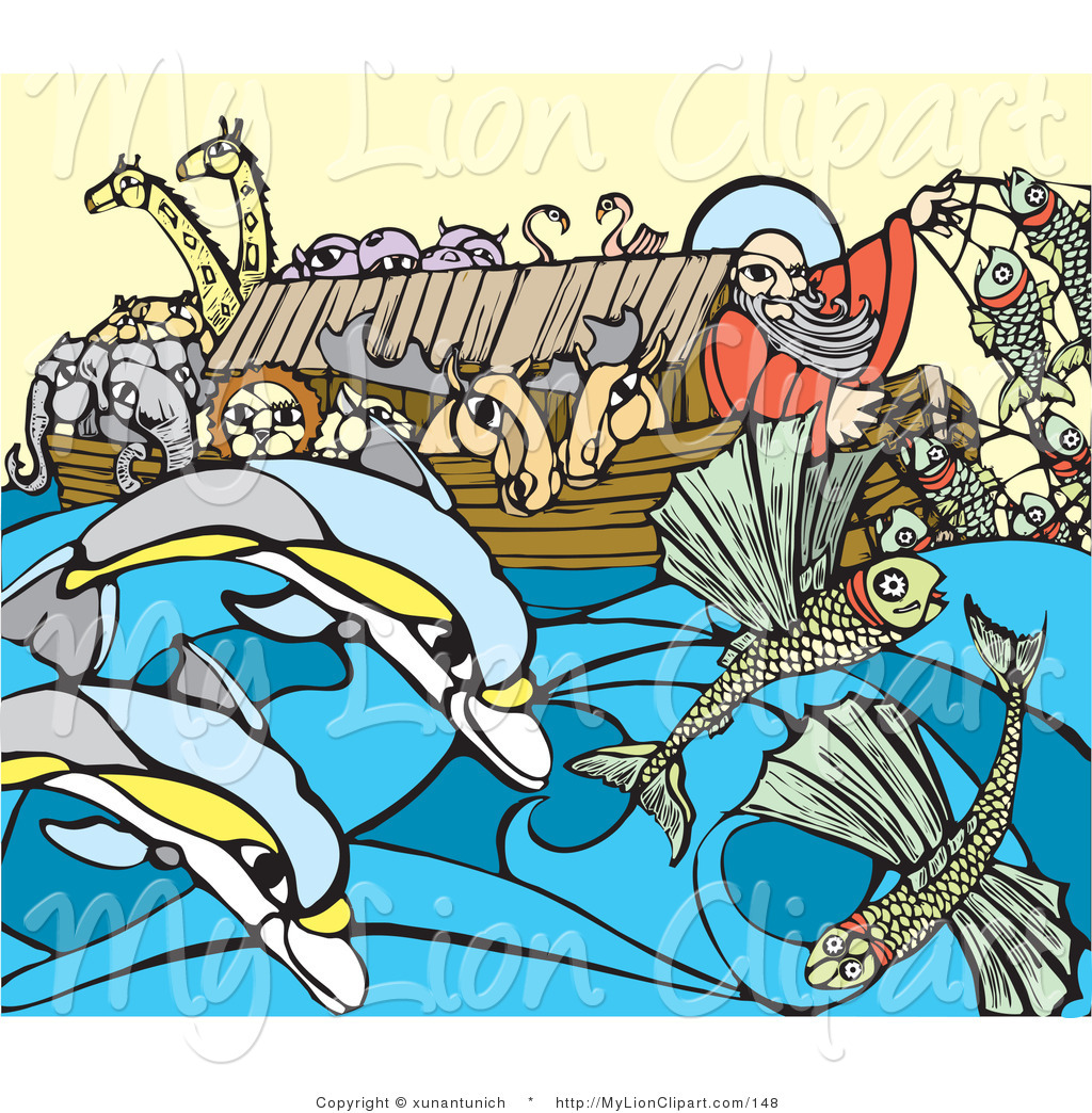 Flood clipart noah and the flood On  of and of