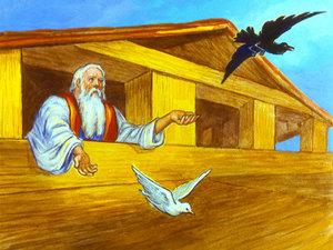 Flooded clipart noah building ark #6