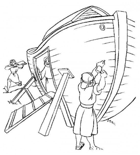 Flooded clipart noah building ark #10