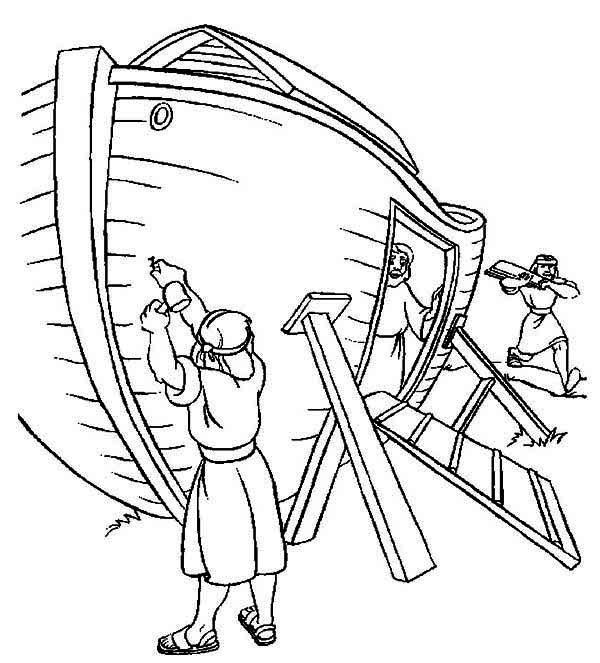 Flood clipart noah building ark Page Ark Book Noah Came