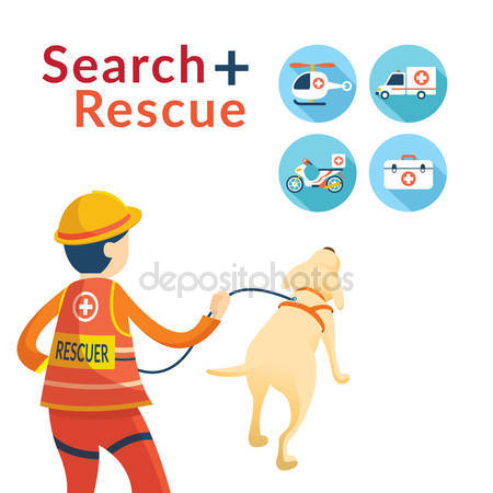 Flood clipart search and rescue Rescuer and Rescue Search rescue