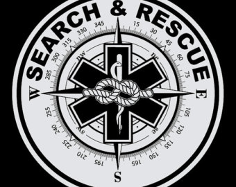 Flood clipart search and rescue Search Reflective Decal Etsy rescue