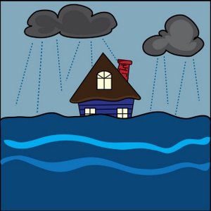 Flooded clipart storm Water art Image: House