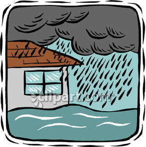 Hosue clipart raining Raining Royalty Flood Free Free