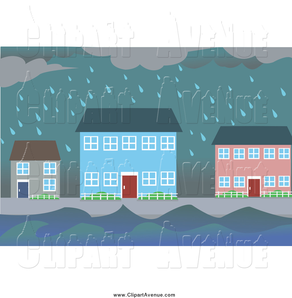 Flooded clipart storm By of Flooding  Village