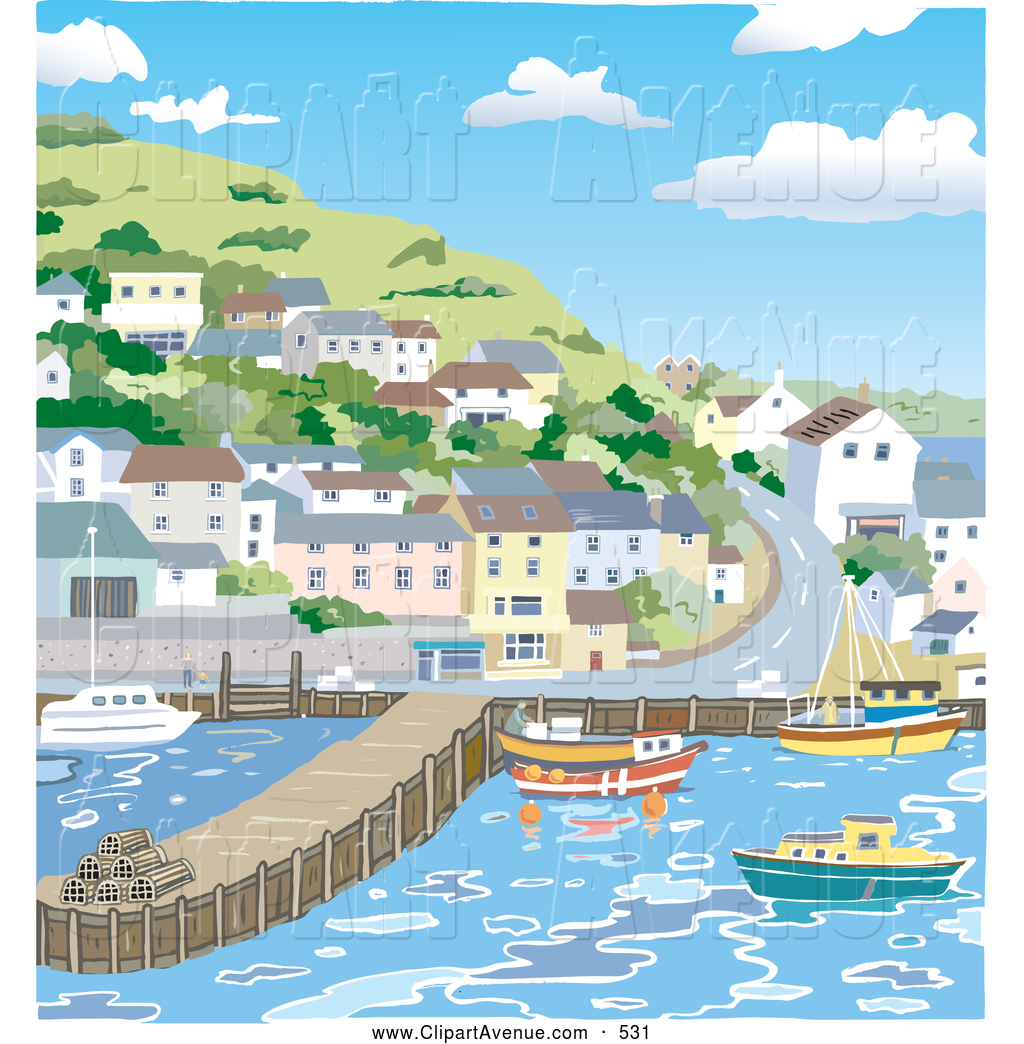 Harbor clipart bay In Designs Villages Town a