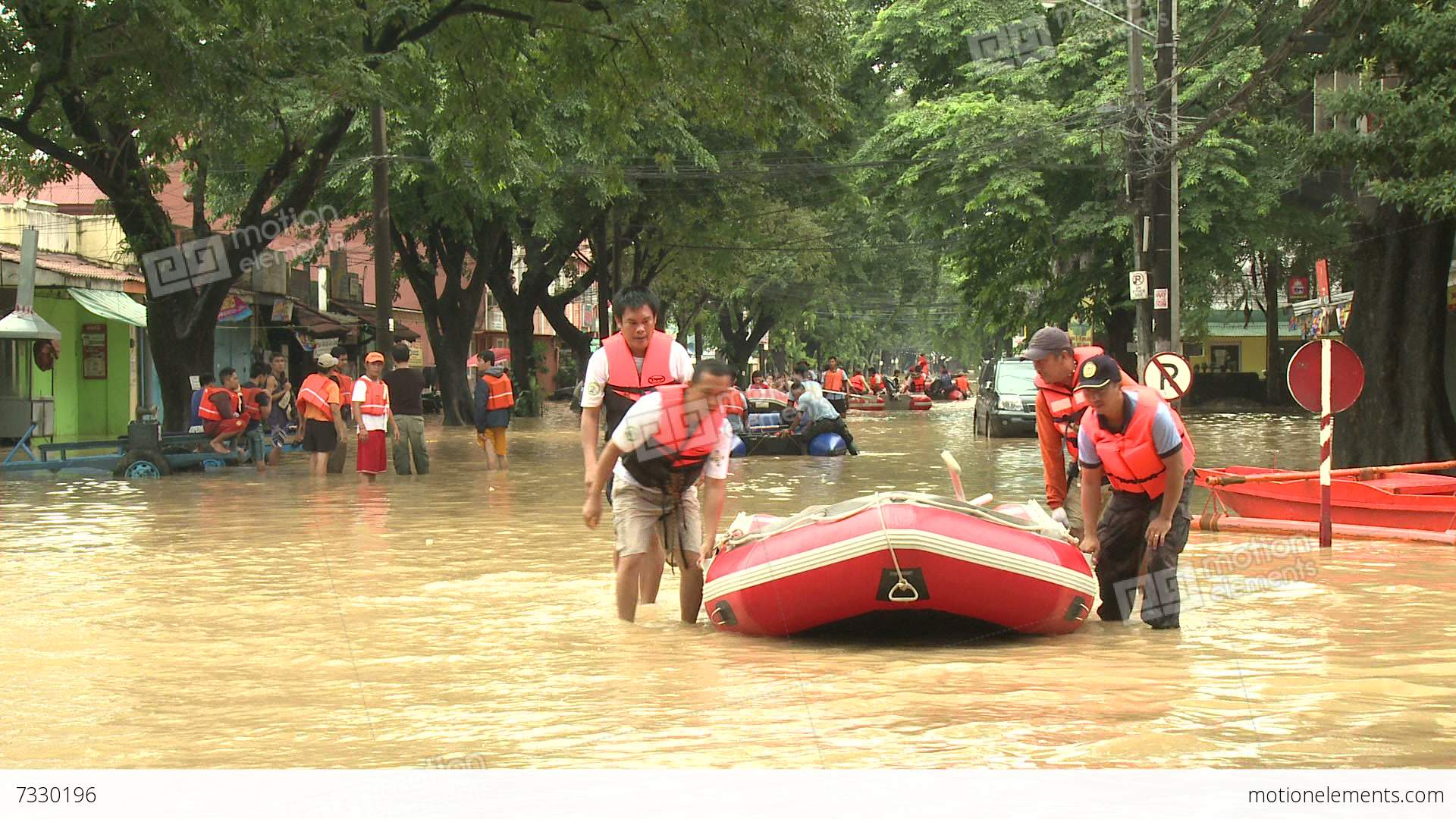 Flood clipart water rescue Philippines Footage Rescue Team Rescue