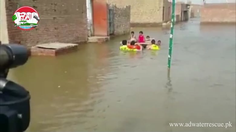Flood clipart water rescue Dawa Flood Punjab Rescue Water
