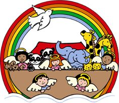 Flooded clipart bible story Clip Cute Ark Noahs Art
