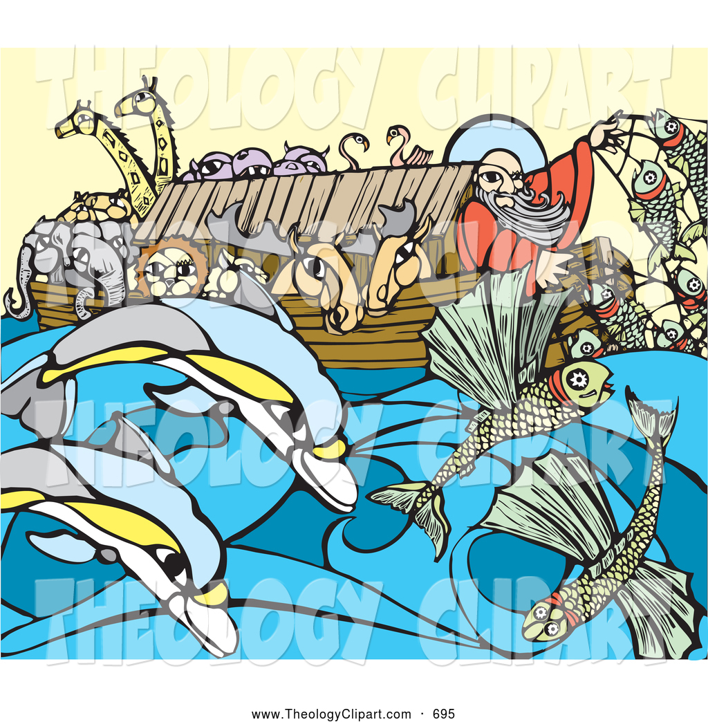 Flooded clipart noah and the flood Royalty Royalty Stock Theology Designs