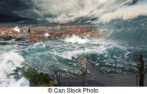 Flooded clipart noah and the flood And  city art is
