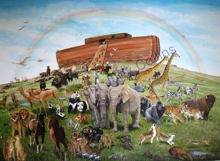 Flooded clipart noah building ark #15