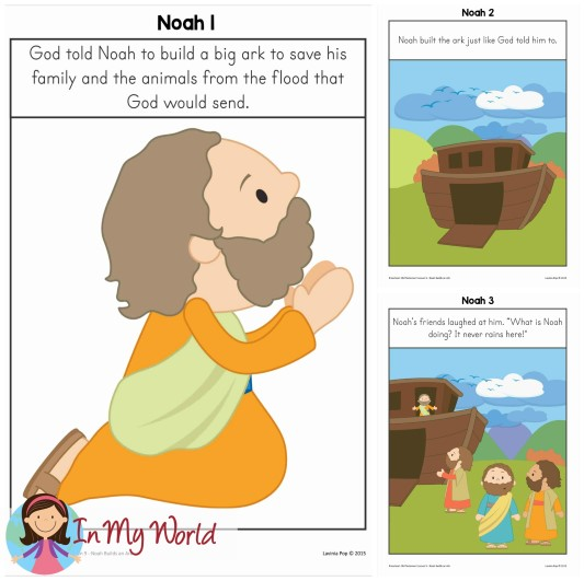 Flooded clipart noah building ark Builds In Posters FREE An