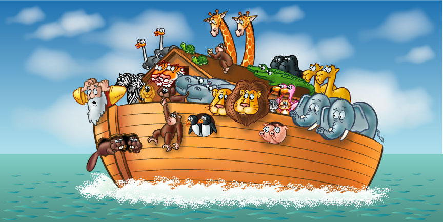 Flooded clipart noah building ark Ark Fundraising Fundraising the don't""