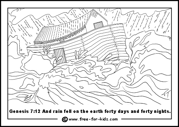 Flooded clipart noah building ark 3MB) Colouring Flood Colouring Noah's