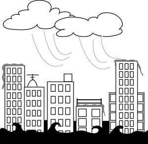 Flooded clipart storm Clipart Flooded City Image Flooded