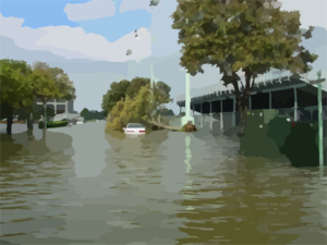 Flooded clipart storm Wind From Storm damage Flood
