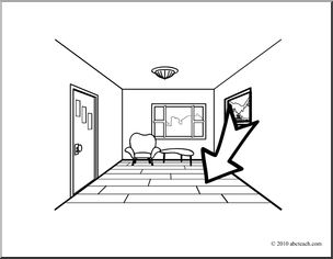 Floor clipart (coloring page) I Words: abcteach