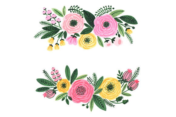 Floral clipart ornamental Floral drawings clipart Floral #20